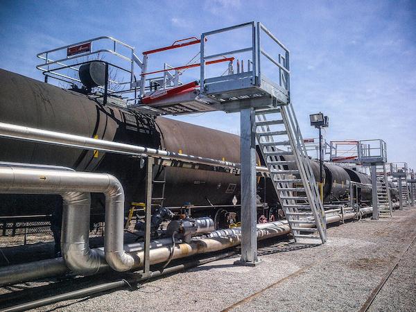 Railcar platforms fall pro/fab
